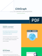 LinkGraph On-Site Content Optimization Overview