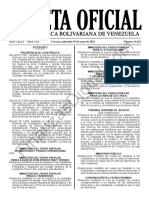 Gaceta Oficial 41643 Sumario