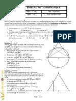Devoir de Contrôle N°1 - Math - 3ème Math (2010-2011) Mr Riadh Mechkèn