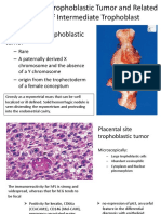 Placental Site Trophoblastic Tumor and Related Lesions Of