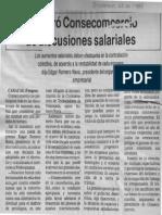 Edgard Romero Nava - Se Retiro Consecomercio de Discusiones Salariales - Venpres 22.12.1989