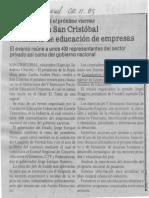 Instalado en San Cristobal seminario de educación de empresas - El Universal 02.11.1989
