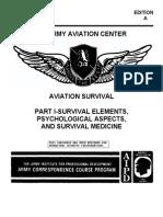 US Army Course - Aviation Survival I Survival Elements, Psychological Aspects, & Survival Medicine AV0661