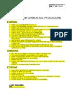 IG System Operating Procedure