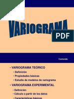 VARIOGRAMA GEOESTADISTICA