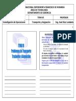Tema VI - Transporte, Trasbordo y Asignación