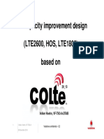 LTE Capacity Improvement Design (LTE2600, HOS, LTE1800)
