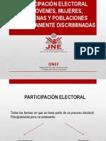 Participacion Electoral de Jovenes Mujeres Indígenas y Poblaciones Históricamente Discriminadas JNE