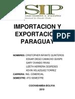 Importacion y Exportacion Paraguay