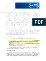 Ejemplo de Postura Oficial de Un País