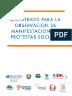 ACNUDH - Directrices Para La Observacion de Manifestaciones