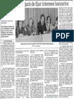 Edgard Romero Nava - El Banco Central Dejara de Fijar Intereses Bancarios - Por Agustin Beroes 1990