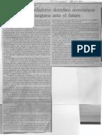 Edgard Romero Nava - Ausencia de Verdaderos Derechos Economicosnos Han Hecho Inseguros Ante El Futuro - El Universal 26.01.1990