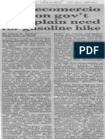 Edgard Romero Nava - Consecomercio Calls on Gov't to Explain Need for Gasoline Hike - The Daily Journal 13.01.1990