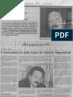 Edgard Romero Nava - Consecomercio Pide Bajar La Edad de Impunidad - 13.01.1990