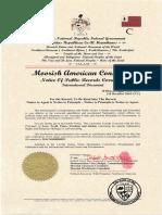 Stanley Evris Dey Notice of  Recorded Deeds