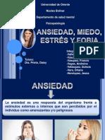 Ansiedad, Miedo, Fobia  y Estrés (Seminario)