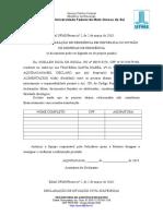 ANEXO MODELOS de DECLARAÇÃO Processo Seletivo 2018 Aux Emergencial 1