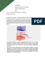Análisis del diseño y funcionamiento de un generador