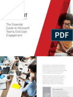 The Essential Guide to Microsoft Teams End User Engagement