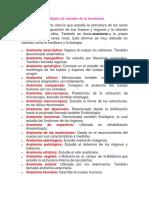 Característica y Objeto de Estudio de La Anatomía