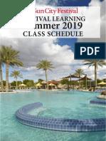 SCF Summer Class Catalog 2019