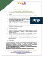 Evaluación Diversificada y Diseño Universal Para El Aprendizaje (DUA).