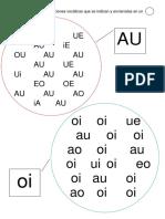Busca Las Combinaciones Vocálicas Que Se Indican y Encierralas en Un
