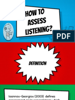 How to assess listening