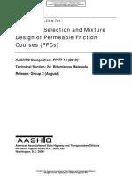 Aashto Pp-14 (2018) Diseño Ogfc