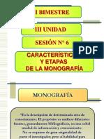 SESIÓN N° 6 - CARÁTERÍSTICAS, ETAPAS Y OTROS