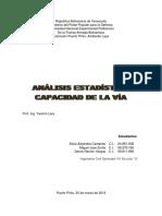Analisis Estadistico - Capacidad de La Via