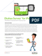 Ekahau Survey Datasheet Final