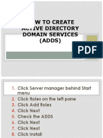 CO 3- How to Create Active Directory Domain Services (ADDS)