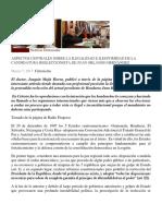Aspectos Centrales Sobre La Ilegalidad e Ilegitimidad de La Candidatura Reeleccionista de Juan Orlando Hernández