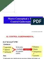 Marco Conceptual y Tipos de Control Gubernamental