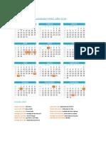 Calendario Peru 2019