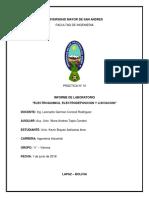 "INFORME DE LABORATORIO ""ELECTROQUIMICA, ELECTRODEPOSICION Y LIXIVIACION"""