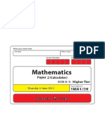 9-1 GCSE Mathematics  Exam 06 June 2019