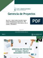 Clase 14 - Gerencia de Proyectos 2019-1