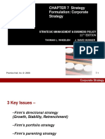 Strategic Management & Business Policy,  14e (Wheelen) Chapter 7 Strategy Formulation
