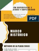 Tensión Superficial e Interfásicas y Capilaridad
