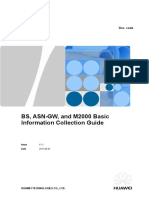 BS, ASN-GW, And M2000 Basic Information Collection Guide