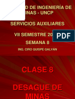 Clase 8.- Desague de Minas