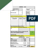 Ficha Tecnica de Costos y Punto de Equilibbrio