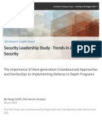 ESG Insights Report, Security Leadership Study - Trends in Application Security