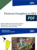 Eficiencia Energética en BES, Pan American Energy & GE Oil & Gas