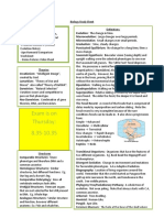 Biology Study Sheet