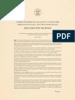 Declaración del papa Francisco con jueces panamericanos