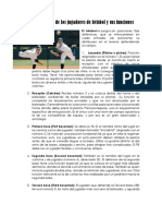 Las Posiciones de Los Jugadores de Béisbol y Sus